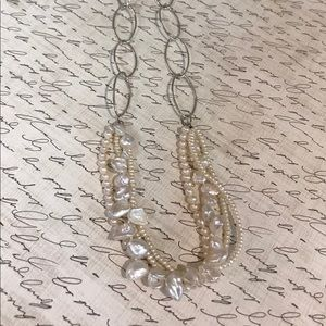 Jewelry - Cultured genuine pearl on sterling silver chain
